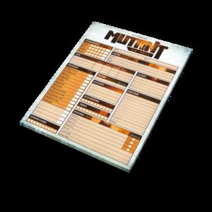 Mutant: År Noll – Rollformulärsblock