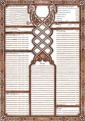 Drakar och Demoner Trudvang - Karaktärsblad